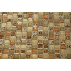 Alloy Deco Egyptian Sand 5/8 X 5/8 Glass Tile