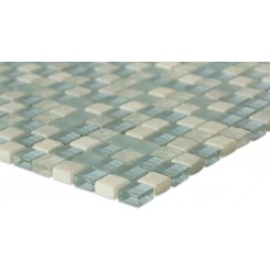 "Morning Mist Blend 1/2"" X 1/2"" Marble & Glass Tile"