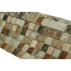 Alloy Weathered Leather 1/2 X 1/2 Glass And Marble Tiles