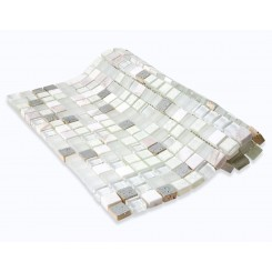 Alloy Deco Blizzard Glass Mosaic Tile
