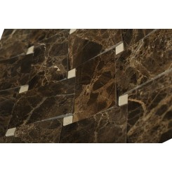 Arbor Dark Emperador With Crema Marfil Dot Marble Tile