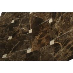 Arbor Dark Emperador With Crema Marfil Dot Marble Tile