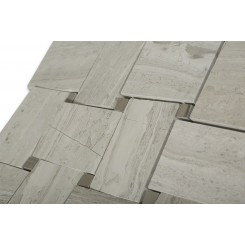 Arbor Wooden Beige With Athens Gray Dot Marble Tile