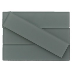 Loft Aspen Aura 2x8 Frosted Glass Tiles