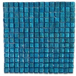 Murano Azure Square Glass Tiles