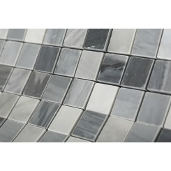 Bardiglio Squares Blend Marble Tiles