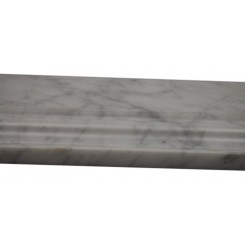 "Base Molding White Carrera 4.75""x12 Marble Liner"