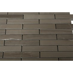 Athens Gray 3/4 X 4 Big Brick Pattern Marble Mosaic Tiles