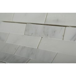 Asian Statuary 3/4 X 4 Big Brick Pattern Marble Mosaic Tiles