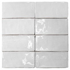 Lancaster 3x6 Bianco Polished Ceramic Tile