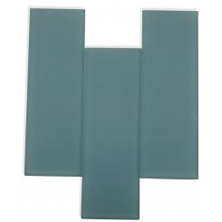 "Loft Blue Gray Frosted 4"" X 12"" Glass Tiles"
