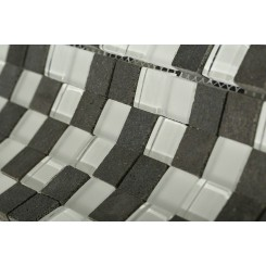 "Breeze Basalt Ice Pattern 3/4"" X 3/4"" Squares"
