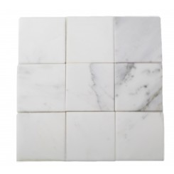 Brushed Stone Asian Statuary 4x4 Marble Tile