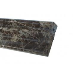 Chair Rail Dark Emperador 2x12 Marble Liner