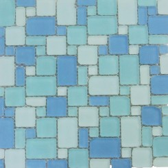 Coastal Seaside French Pattern Beached Frosted Glass Tiles