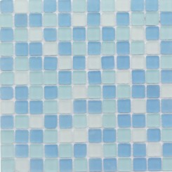Coastal Seaside Squares Beached Frosted Glass Tiles