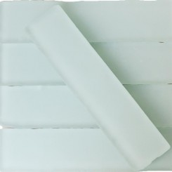 Coastal Shower 2x8 Beached Frosted Glass Tiles