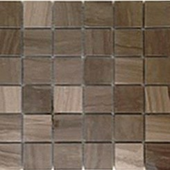 Coffee Wood 2x2 Polished Marble Mosaic Tile