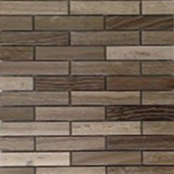Coffee Wood Big Brick Pattern Marble Mosaic Tile