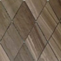Coffee Wood Diamond Marble Mosaic Tile