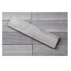 Brushed Stone Coffee Wood 2x8 Marble Tile