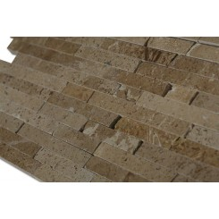 Noce Travertine Cracked Joint Classic Brick Layout Tile