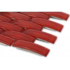 Loft Crescent Cherry Red Glass Tiles