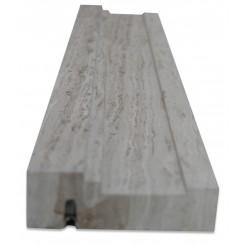Chair Rail Wooden Beige Honed Marble Tile Liner