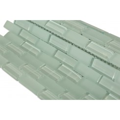Loft Seafoam Brick 1/2 X 2 Glass Tiles