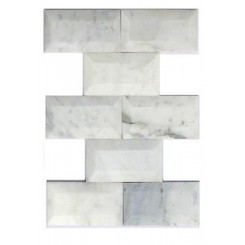 Speranza Carrera Beveled 3x6 Polished Marble Tile