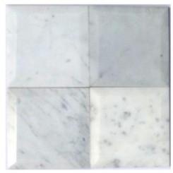 Speranza Carrera Beveled 6x6 Polished Marble Tile