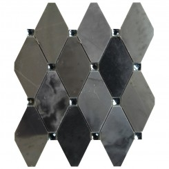 Paradigm Diamond Moonstone and Mirror Marble and Glass Tile