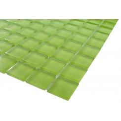 Loft Electric Lime 1 x 1 Glass Tiles