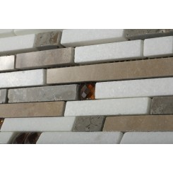 Enchanted Dynasty Marble and Glass Tile