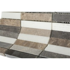 Esker Walnut Bark Bricks Marble Tile