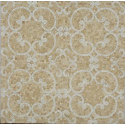 Marquis Thassos and Crema Marfil Marble Tile