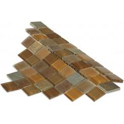 Geological Diamond Multicolor Slate & Earth Blend Glass Tiles