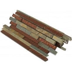 Geological Tao Multicolor Slate & Rust Glass Tiles