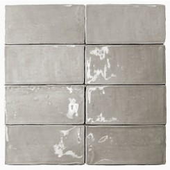Lancaster 3x6 Dove Polished Ceramic Tile