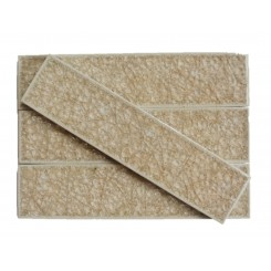 Roman Collection Hazelnut Cream 2x8 Glass Tile