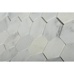Asian Statuary Hexagon Marble Mosaics