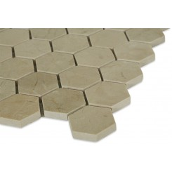Sample-Crema Marfil Hexagon Tile Sample