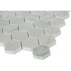 Sample-hexagon White Carrera Tile Sample