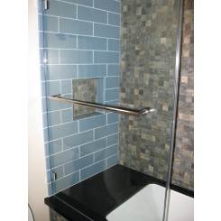 "Loft Blue Gray Polished 4"" X 12"" Glass Tiles"
