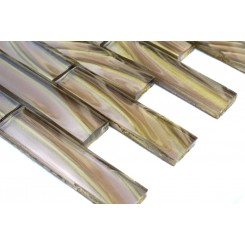 Metallic Sidewinder 1x4 Glass Tile