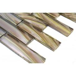 Metallic Sidewinder 1x4 Glass Tile