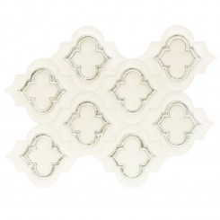 Highland Kensington Frosted Super White With Silver Dust Glass Tile