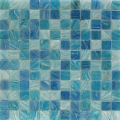 Aquatic Sky Blue 1x1 Squares Glass Tiles