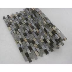 Paragon Surf Periwinkle Mini Brick Pattern  Tile
