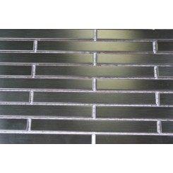 Metal Silver Stainless Steel 3/8x4 Stick Brick Tiles